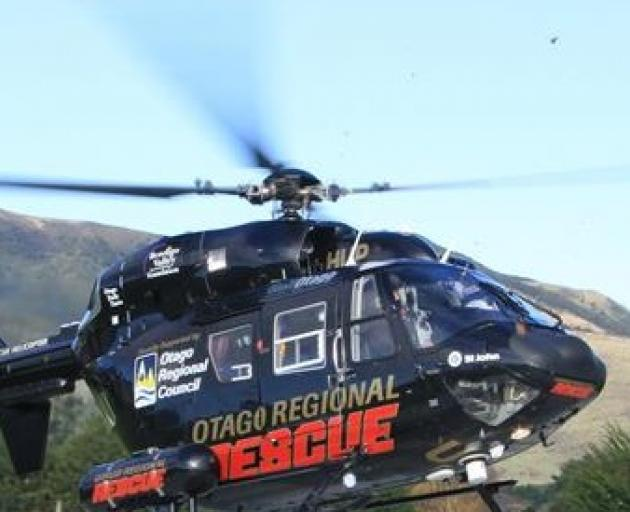 A rescue helicopter from Dunedin was sent to the crash site. Photo: ODT files