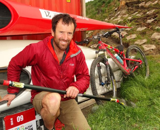 Chris Forne sorts gear at his Queenstown home. Photo: Guy Williams