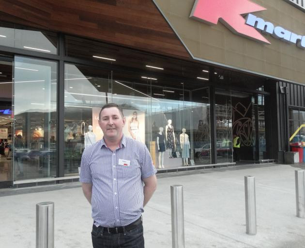 Kmart New Zealand director Jason Picard at the store opening in Queenstown this morning. Photo: Joshua Walton