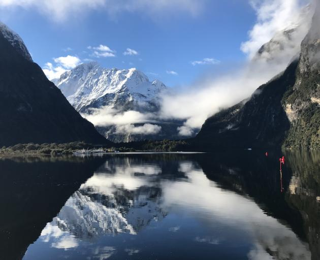 The calm after the storm in Milford Sound. PHOTOS: DAISY HUDSON