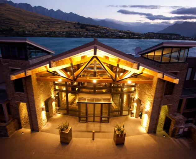 The Rees Queenstown Hotel, which is undergoing a management company shareholding change and will become the flagship hotel of a planned national chain. Photo: Supplied