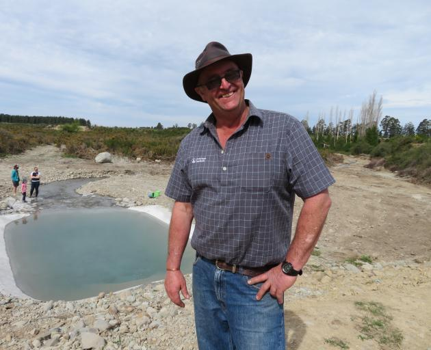 Peter Lowe at the opening of the Hinds managed aquifer recharge site. Photos: John Keast