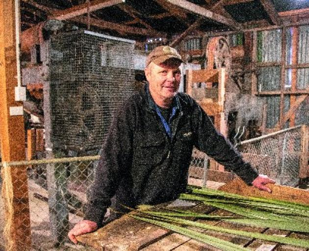 Dairy farmer Vaughan Templeton and his family operate the restored Templeton Flax Mill and Heritage Museum, near Riverton. Photo: Southland District Council