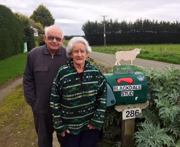 Peter and Marion Black are looking forward to a Texel breeders field day. Photo: Supplied