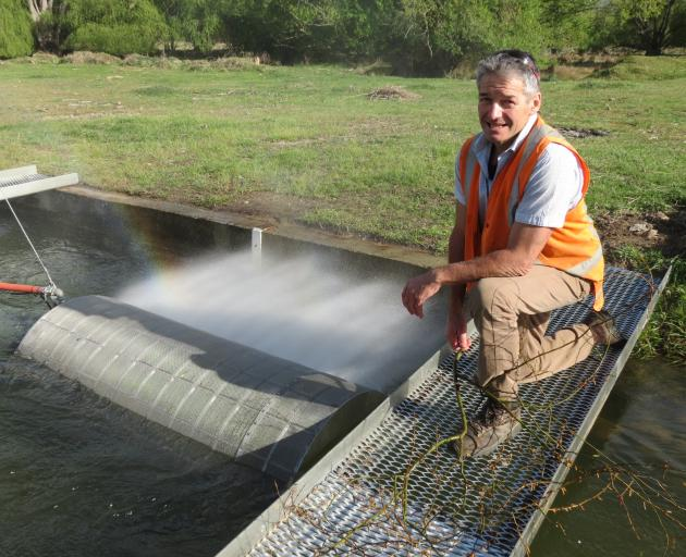 Aqua Irrigation's managing director, Tim Anderson, says the new, self-cleaning screen is far more efficient. Photo: Yvonne O'Hara
