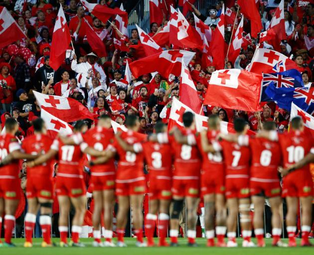 Fans showing support during the International Test match between Tonga and Australia at Mount Smart Stadium on October 20. Photo: Getty Images