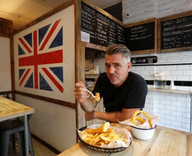Sutton and Sons vegan fish and chip restaurant owner Daniel Sutton. Photo: Reuters
