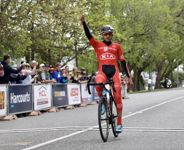 Canadian James Piccoli wins stage five of the Tour of Southland from Invercargill to Gore...