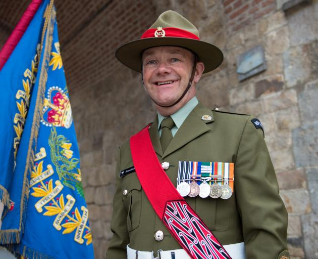 Warrant Officer Class Two Shane Parker was a member of the New Zealand Defence Force contingent that marked the 100th anniversary of the liberation of Le Quesnoy at the weekend. Photo: Supplied