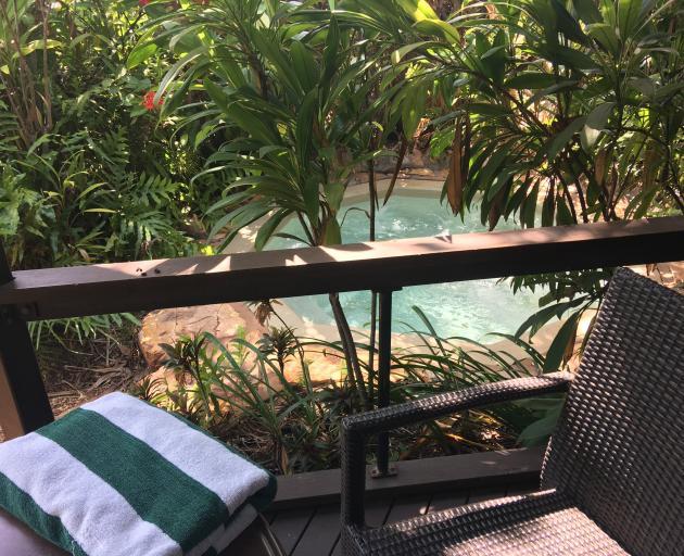 The jacuzzi at Palms City Resort, Darwin. PHOTO: PAM JONES