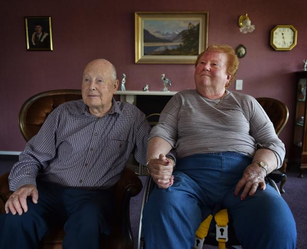 Mosgiel couple Mike and Marjorie Beath share their frustrations about issues with the district nursing system. Photo: Gregor Richardson