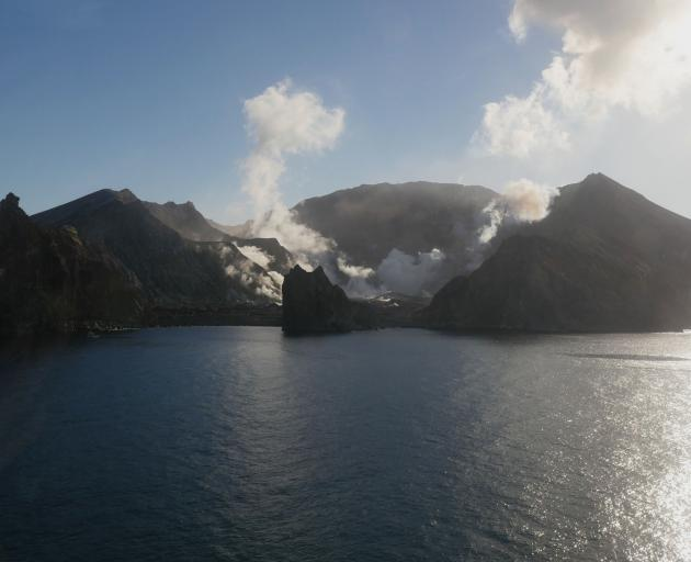Volcanic White Island, about 48km offshore in the Bay of Plenty. Photo: Supplied