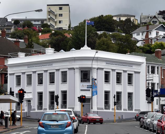 The Dhammachai International Research Institute, in the former BNZ building in Dunedin. PHOTO:...