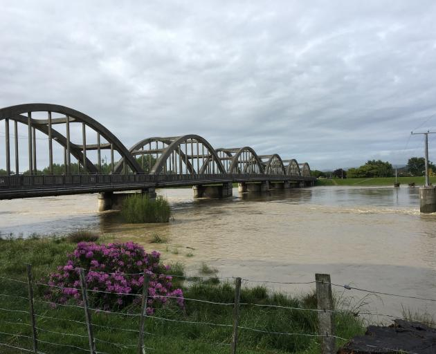 The Clutha River is running at the highest levels recorded since November 1999. Photo: Richard...