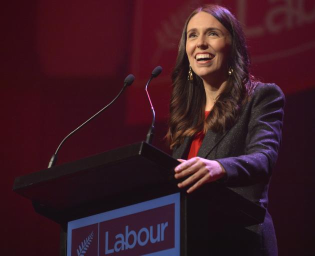 Labour leader Jacinda Ardern gives her first conference leader's speech as Prime Minister, in the...