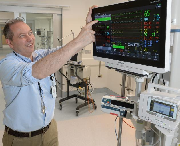 New touch-screen patient monitors in Dunedin Hospital's new intensive care unit mean patients can...