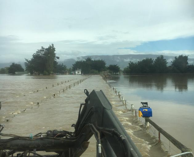 Farmer James Adam says it's the worst November flooding he had seen since 1993. Photo: Ellie May...