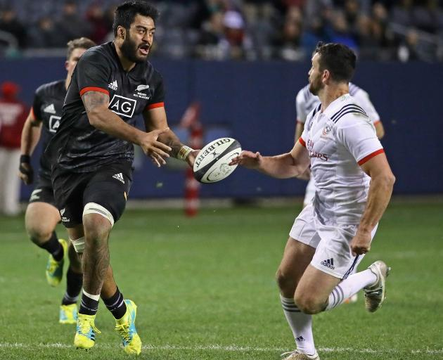 Akira Ioane ties the USA Eagles in knots at Soldier Field in Chicago. Photo: Getty Images