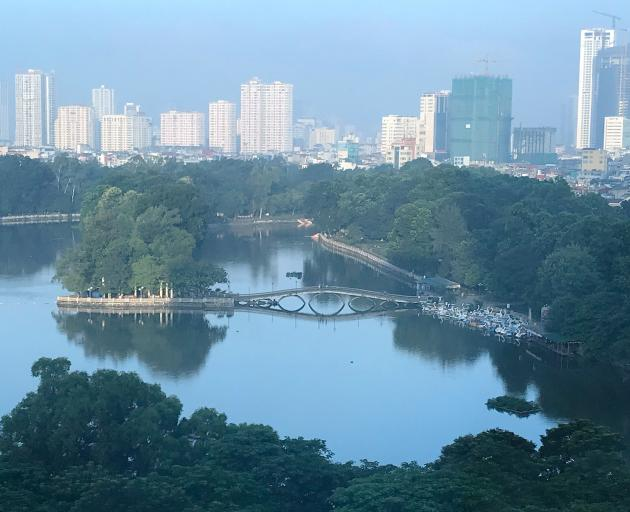 Surprisingly green, the outlook from my Hanoi hotel room. PHOTOS: GILLIAN VINE