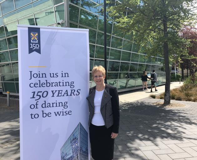 Helen Nicholson is preparing for a colourful line-up of celebrations to mark 150 years of the University of Otago. Photo: Supplied