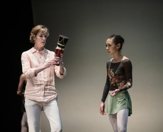 Royal New Zealand Ballet artistic director Patricia Barker with dancer Katherine Minor.