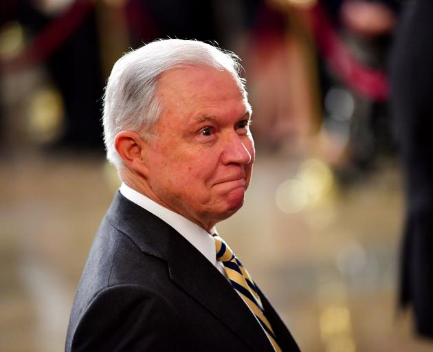 Former US Attorney General Jeff Sessions. Photo: Reuters