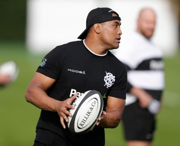 Julian Savea at Barabarians training prior to playing the All Blacks. Photo: Getty Images
