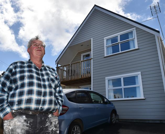Otago Property Investors Association president Cliff Seque at his new 10-month old Dundas St...