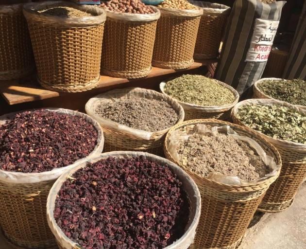 On display are an array of spice in the souk. Photo: Supplied