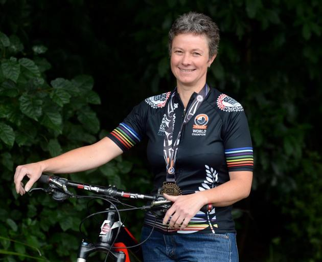 Mountain biker Ronel Cook and her bike combined to win a national title. Photo by Linda Robertson.