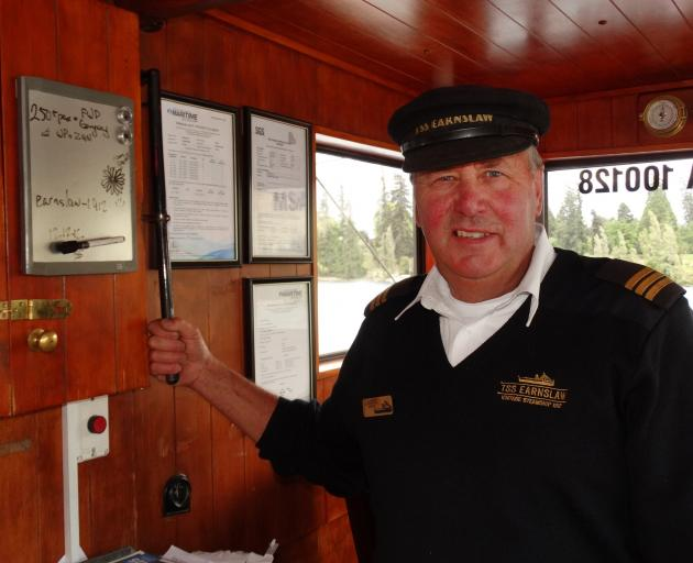 TSS Earnslaw skipper Laurie Stanton will sound the steamship's horn 11 times at 11am on Sunday to...