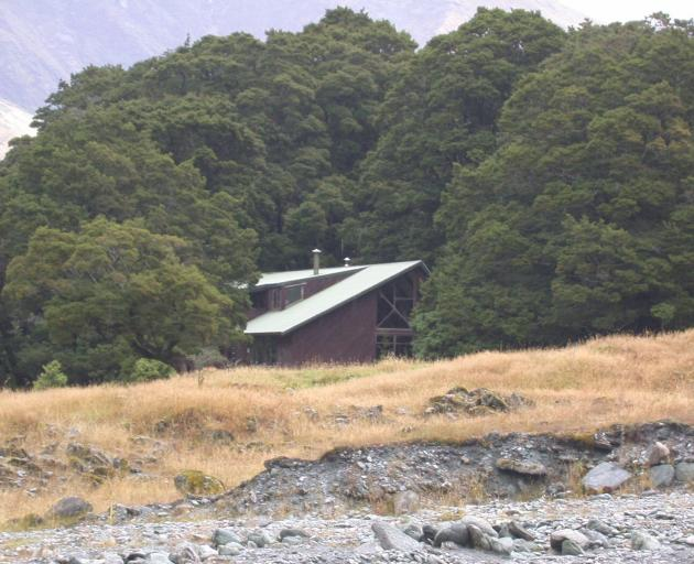 The Otago Boys' High School lodge in the  Matukituki Valley where pupils have been stranded by heavy rain. Photo: ODT files