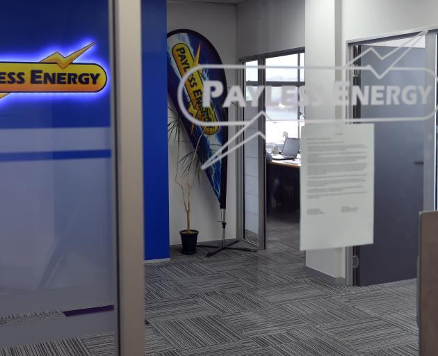 "A notice yesterday at Payless Energy's Dunedin office explains to customers how ""funding pressures'' from recent volatile spot prices were unsustainable and the company was ""exiting retail electricity'' supply. Photo: Peter McIntosh"
