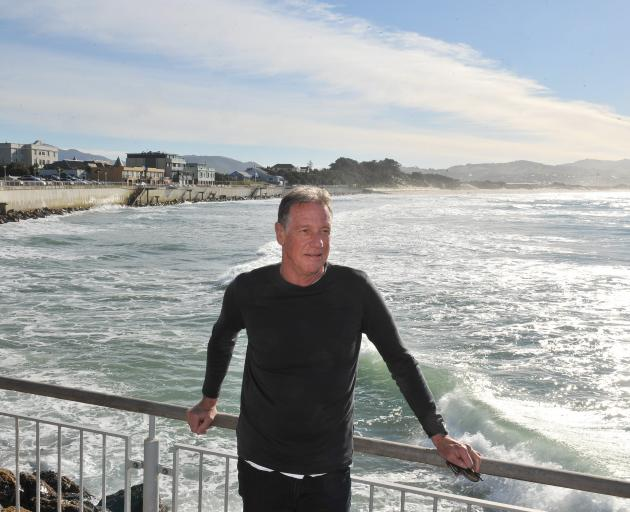 Prof Doug Booth at St Clair, a beach that has changed with the times and will do so again. Photo:...