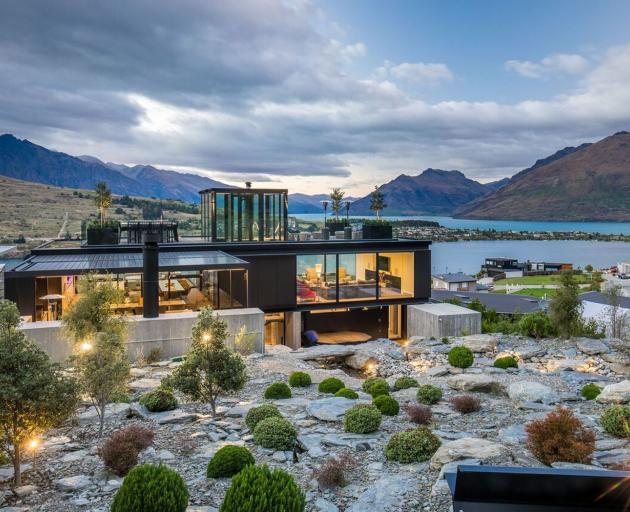 The Queenstown holiday home that has won the TIDA New Zealand Architect New Home of the Year Award. Photo: Supplied