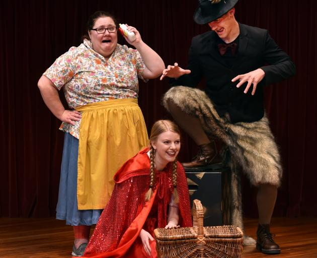 Little Red Riding Hood cast members (from left) Claire Barton, Erica Paterson and Scott Bezett...