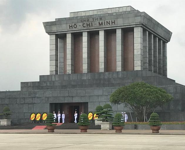 Ho Chi Minh's embalmed body lies in this vast mausoleum.