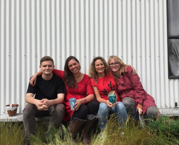 Ollie Larkin from Vision Workshop, Wanaka, Anna van Riel, Kath Bee, and Traci Meek from Meek and...
