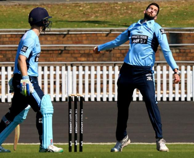 Will Somerville bowls for New South Wales in a one day game in 2017. Photo: Getty Images