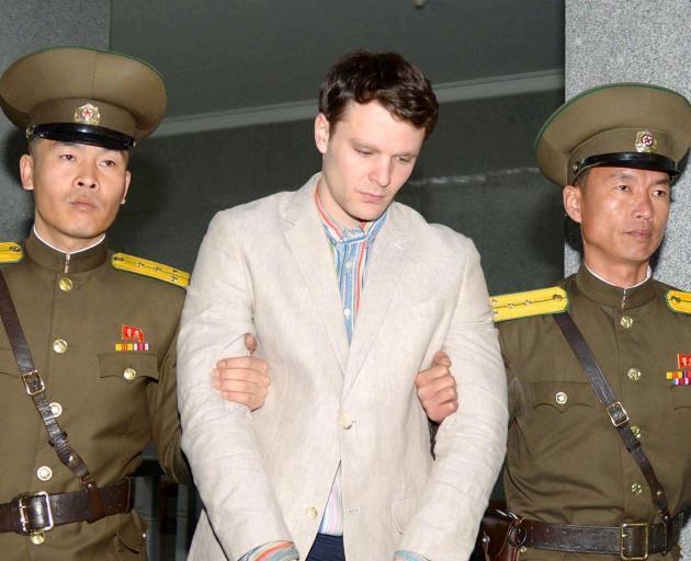 Otto Frederick Warmbier, being taken to North Korea's top court in Pyongyang North Korea....