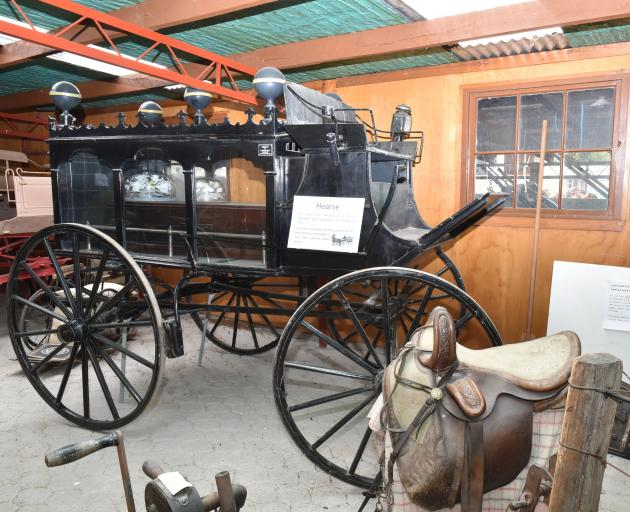 James Mitchell's horse-drawn hearse. Photo: Gregor Richardson