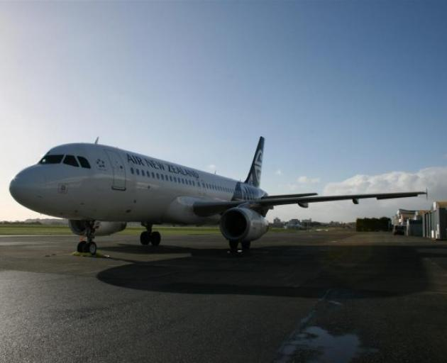 Air New Zealand Airbus A320 at the Invercargill airport. Photo: Allied Press files