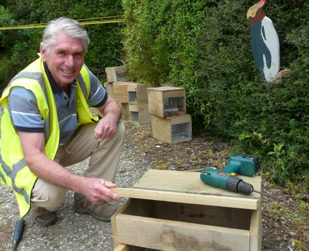 Helping construct little blue penguin nesting boxes is one of 20 events comprising the Forest &...
