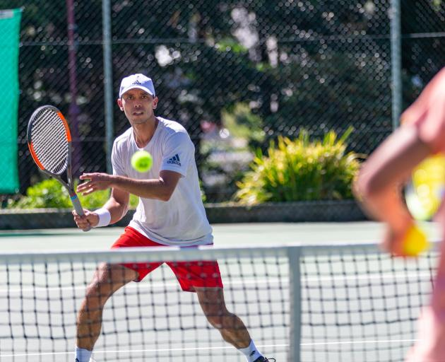 Ben McLachlan trains this week at home in Queenstown after a successful year on the world tennis...