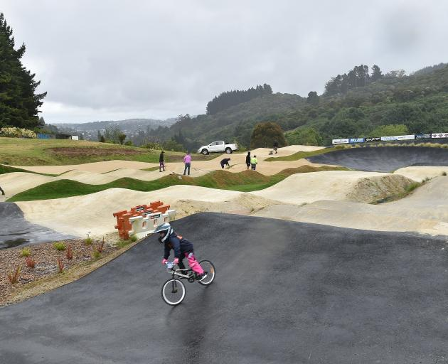 The new BMX track at Forrester Park is all set for a big meet next month. Photos: Gregor Richardson