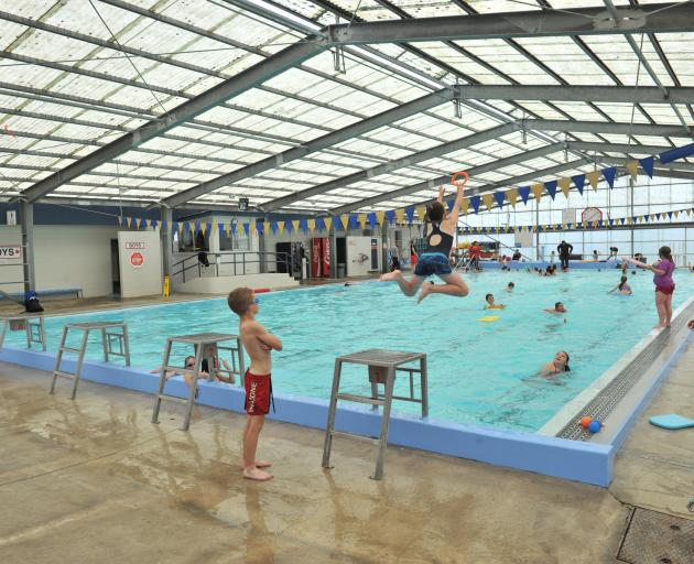 Swimmers at the Mosgiel pool. Photo: ODT files