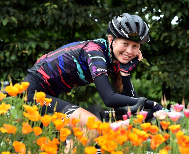 Dunedin cyclist Ella Harris has secured a professional contract with German team Canyon-SRAM. Photo: Peter McIntosh