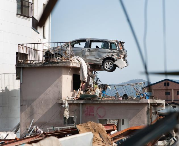Damage caused by the March 11, 2011 tsunami in Kamaishi, Japan. Photo: Getty Images