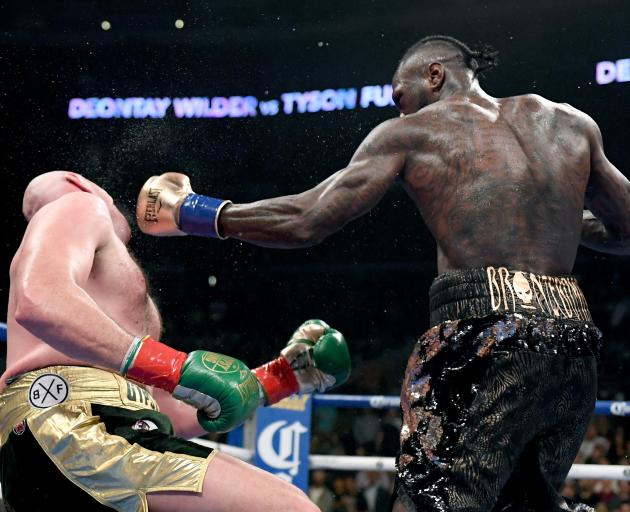Tyson Fury was knocked down twice but had the better of the rest of the fight. Photo: Getty Images