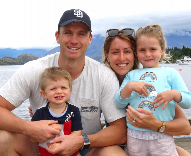 All Black Ben Smith, wife Katie, son Walter (20 months) and daughter Annabelle (3) in Wanaka...